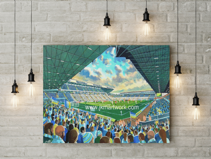 new elland road on matchday canvas a2 size